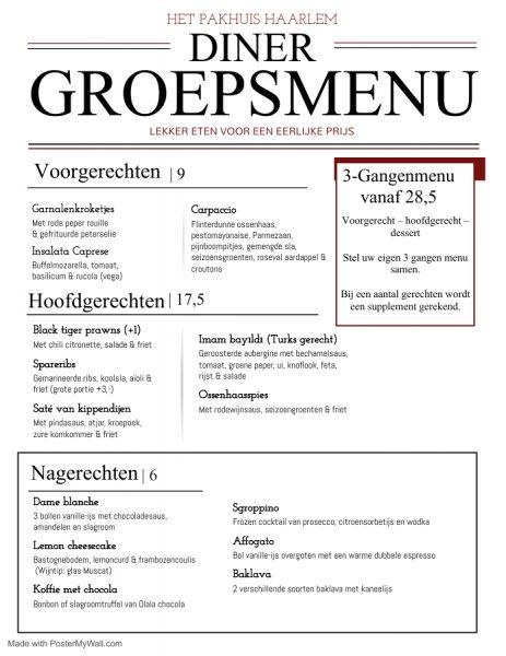 Groepsmenu NL printable